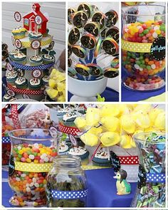 primary color candy buffet