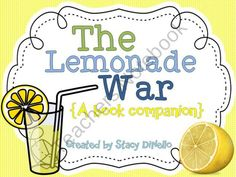 Lemonade war on pinterest book trailers sibling rivalry and reading