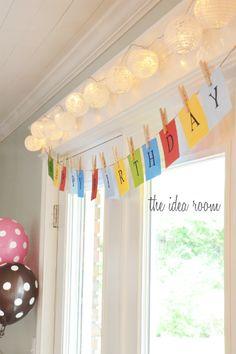 birthday parti, clothespin, happy birthdays, birthday banners, happy birthday banner, happybirthday banner, diy happybirthdaybann, happi birthday, birthday ideas