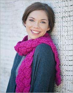 Braided crochet scarf