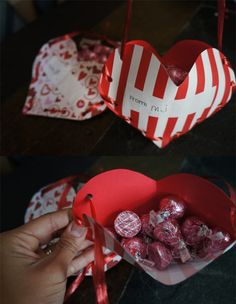 DIY Valentine's Day treat pockets: a crafty gift idea #valentines #paper #crafts