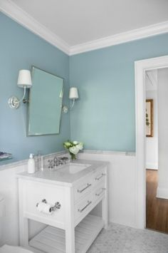 Ooh maybe a vanity like this in the new guest bath