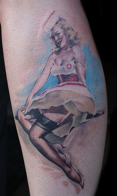 here you go dez. shes cute... Pinup Girl Tattoo