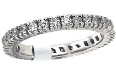Eternity band with brilliant cut diamonds set in 14kt white gold