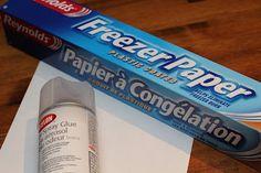 Freezer paper transfer