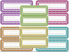 Free printable polka-dot name tags!