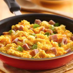 Ham 'n Cheese Scrambled Eggs Recipe from Land O'Lakes