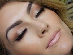 Brown Smokey Eye  Nude Lip- Gorgeous! Check out dem #brows