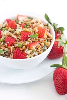 wheat berry amp wild rice salad with strawberries amp basil www ...