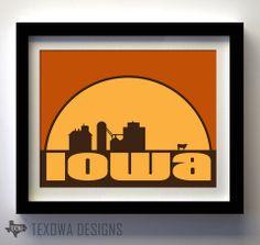 Farm Iowa - print by Texowa Designs