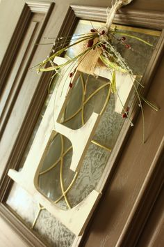 Christmas large letter Door Hanger Holiday by PaperJackStudio