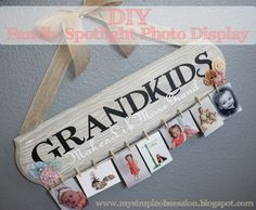 Family Spotlight Photo Display Tutorial