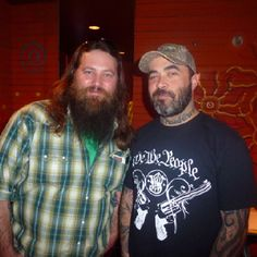 Aaron Lewis with Willie of Duck Dynasty