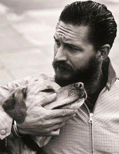 Tom hardy with dog