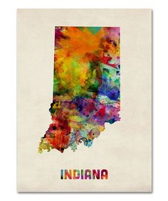 Tie-Dye Indiana Map