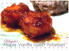 """Marjorie's Maple Vanilla Sweet Potatoes  """"A family recipe that spans three generations, these glazed sweet potatoes are rich and delectable and are the perfect accompaniment to the traditional flavors of Thanksgiving.""""  #MyAllrecipes #AllrecipesFaceless"""