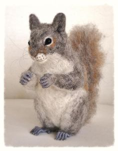 Ooak Needle Felted Squirrel by FireflyFelts on Etsy, $220.00