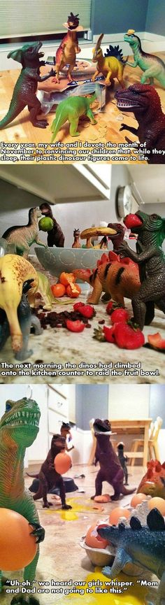Someone Give These Parents a Medal for Creativity parents, remember this, parenting done right, toys, thought, children, future kids, dinosaurs, parenting win