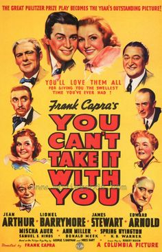 YOU CAN'T TAKE IT WITH YOU (Tómalo o déjalo) - 1938. Director: Frank Capra. Productor: Frank Capra.