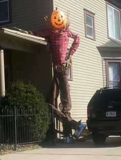 Wow, now that's a scarecrow!