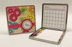 Calendar in a tin - great gift idea!  PDF's and how-to video included in link