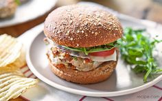 Get a healthy twist on your burger with this turkey and vegetable recipe.