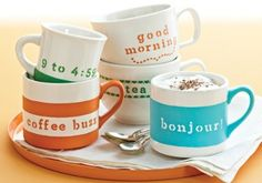Martha Stewart Coffee Mugs #FaveCrafts