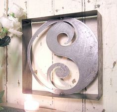 YingYang, metal wall art, wall decor