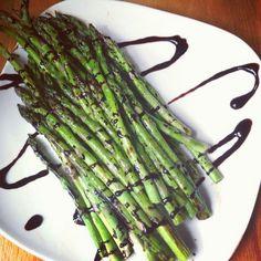 roast asparagus, glaze roast