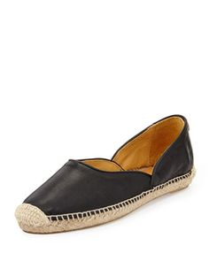 Georgie Leather Espadrille Flat, Black by Rag & Bone at Bergdorf Goodman.