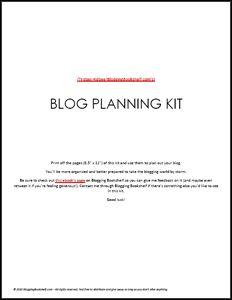 Blog Planning Kit eBook (Free)
