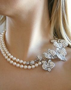 strands, pearls, pearl necklaces, wedding necklaces, orchid pearl, jewelri, inspir necklac, fashion necklace, bridal pearl