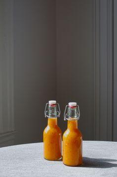 Peach & habanero hot sauce