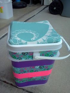 Bucket Seats - use a paint bucket or kitty litter bucket, girls decorate, use for camp to sit on and girls can put their stuff in it