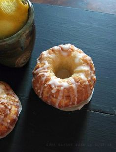 triple lemon bundtlette cakes from @Valerie {une gamine}