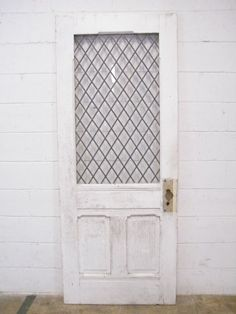 Columbus Architectural Salvage - Leaded Glass Entry Door
