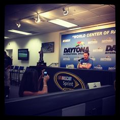 """Photo by @hendrick88team on Instagram: """"#DaleJr talking to the media @DISupdates"""" on July 5."""