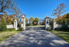 Estate gates with a Gothic touch...