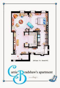 Carrie Bradshaw's apartment floor plan