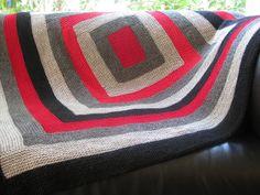 Minimalist log cabin blanket by lauraver, via Flickr libraries, patterns, knit blanket, cabin blanket, 0o0 knit, logs, log cabins, blankets, beauti knit