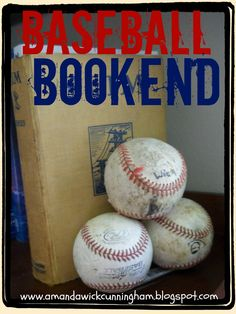kaleidoscop, baseball bookends, craft, stuff, baseball boys room ideas, basebal bookend, boys baseball room ideas, boy room, kid
