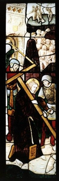 Jesus Carrying the Cross Stained Glass