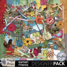 Garden Friends Page Kit-(PattyB) #MyMemories #pattybscraps #digitalscrapbooking