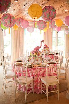 lantern, shore chic, flamingo parti, dinner parties, pink flamingo, glam pad, parti idea, flamingl parti, baby showers