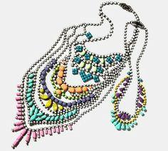 Neon rhinestone necklaces