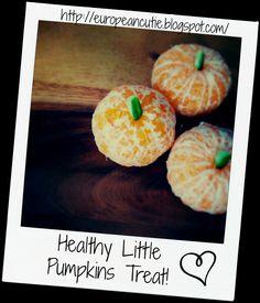 Healthy little Pumpkin Treat using oranges! on MyRecipeMagic.com #healthy #pumpkins #oranges #clementines
