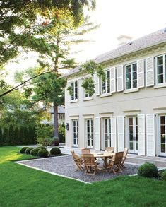 white houses, pea, color, exterior, shutter, outdoor space, photo galleries, patios, backyards