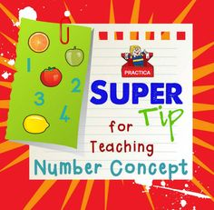 A Super Tip for Teaching Number Concept to little ones!