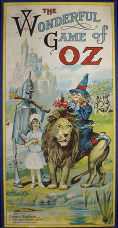 *THE WONDERFUL GAME OF OZ ~ Parker Brothers, 1921...