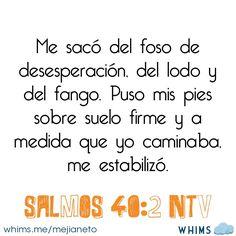 Salmos 40:2 #Biblia #versosbiblicos #versiculos #Dios #palabras #vida #amor #Biblia